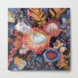 Storm Flowers Metal Print