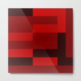 shades of red abstract Metal Print