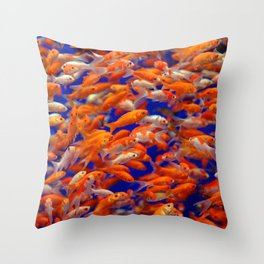 I Love Fishes Throw Pillow