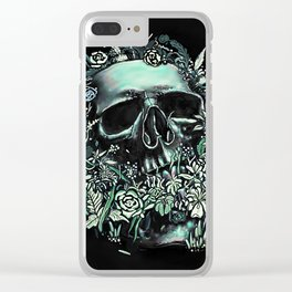 Skull Flora Clear iPhone Case