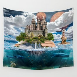 Book Castle Wall Tapestry