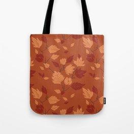 Fall foliage pattern Tote Bag