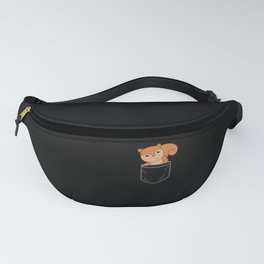 Squirrel In Breast Pocket Funny Forest Animals Fanny Pack