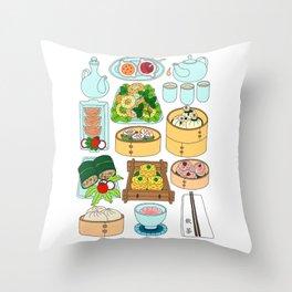 Dim Sum Lunch Throw Pillow