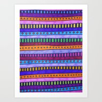 gem Art Prints featuring Gem by Erin Jordan