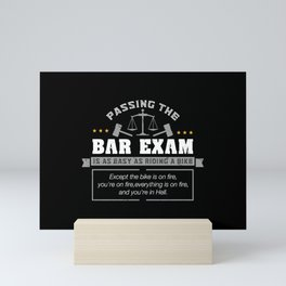 Passing The Bar Exam Is Easy As Riding A Bike For Lawyers Mini Art Print