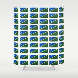 flag of Salomon -Salomon,salomon islander,santa isabel,nggela,malaita,honiara,guadalcanal Shower Curtain