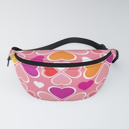 Hearts Flower Creation 7 Fanny Pack