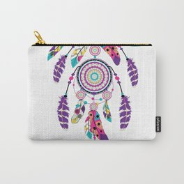 Colorful dream catcher on arrow Carry-All Pouch
