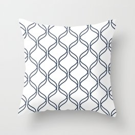 Double Helix - Navy #535 Throw Pillow