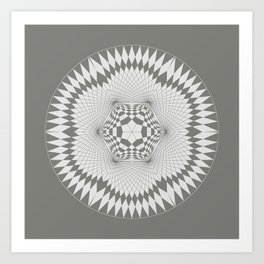 flower of life, alien crop formation, sacred geometry Art Print