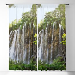 veliki prštavac waterfall plitvice lakes national park croatia sun Blackout Curtain