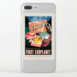 51 Pegasi b - NASA Space Travel Poster Clear iPhone Case