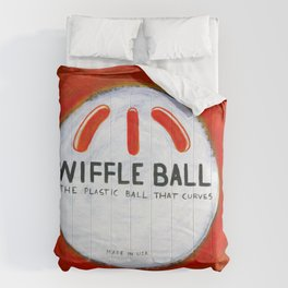 "Wiffle Ball (2011), 17"" x 17"", acrylic on gesso on chipboard Comforters"