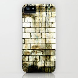 All The Bricks In The Wall iPhone Case