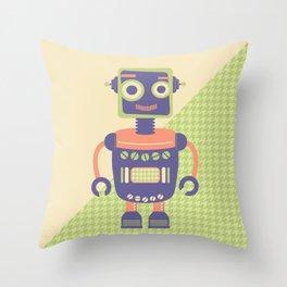 Rob-Bot01 Throw Pillow