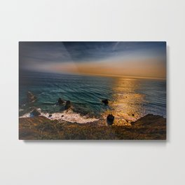 Lost Coast Cliffs Metal Print