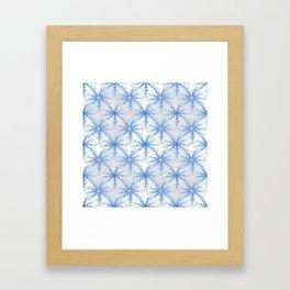Snow Flakes Design Framed Art Print