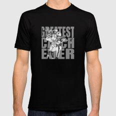 GREATEST CATCH EVER Mens Fitted Tee Black MEDIUM