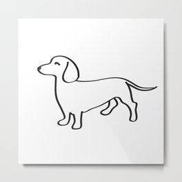 Doxie Love Metal Print