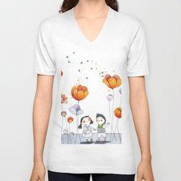 Mandarin Unisex V-Neck
