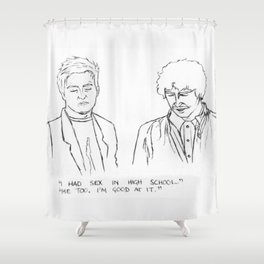 Friends quote Shower Curtain