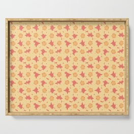 Coreopsis Flower Vector Pattern Serving Tray