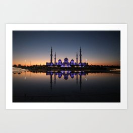 Night at the mosque Art Print