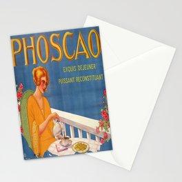 Advertisement phoscao exquis petit dejeuner Stationery Cards