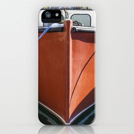 Red Lobstering boat iPhone Case