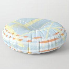 crossroads ll - orangle circle graphic Floor Pillow