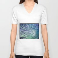 poem V-neck T-shirts featuring Favorite Poem... by Julia Kovtunyak