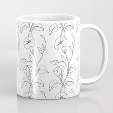 Floral Drawing in black and white Coffee Mug