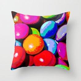 Abstract Solar Throw Pillow