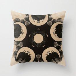 Ouija Wheel of the Moon - Beyond the Veil Throw Pillow