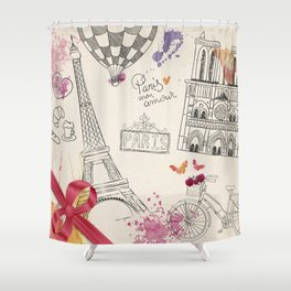 Greetings from Paris Shower Curtain