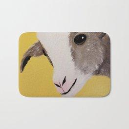 Original Painting - Farm Friends - Baby Goat Bath Mat