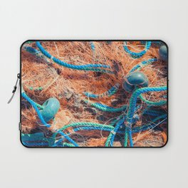Crumpled fishnet with buoys on rope Laptop Sleeve