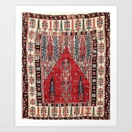 Erzurum  Antique East Anatolian Niche Kilim Art Print