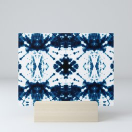 Velvet Shibori Blue Mini Art Print