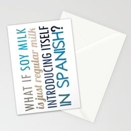 What if soy milk... Stationery Cards