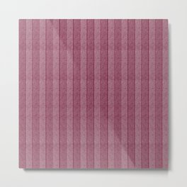 """""""Pink Vertical Lines Wool Texture"""" Metal Print"""