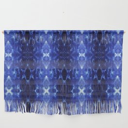 Ikat Shibori Blues Wall Hanging