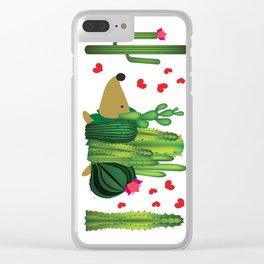 Hedgehog from cactus Clear iPhone Case
