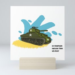 Sherman Tank Graffiti Mini Art Print