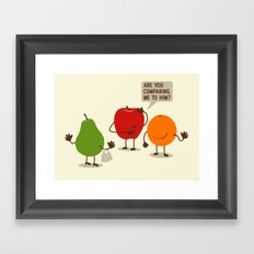 Like Apples and Oranges Framed Art Print