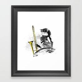 Trombone Warrior Framed Art Print
