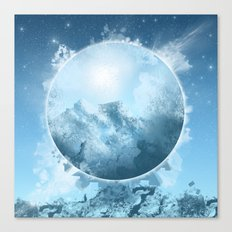 circle white landscape Canvas Print
