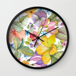 Spring Botanical Wall Clock