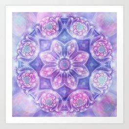 Daydream Mandala in Purple, Blue and Pink Art Print